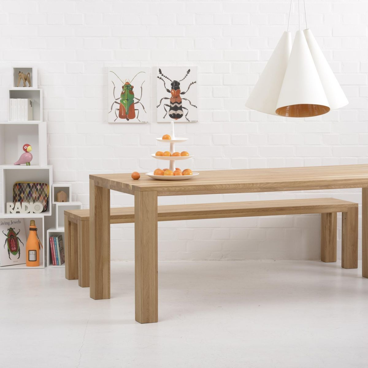 Loft table de salle manger en bois massif adwood for Salle a manger loft