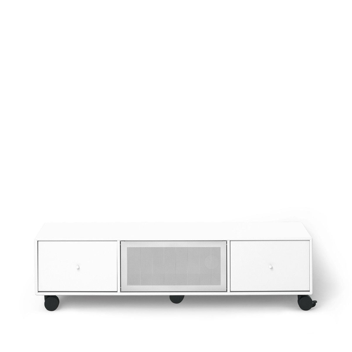 tv sound hub i sideboard mit rollen montana. Black Bedroom Furniture Sets. Home Design Ideas