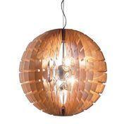 B.LUX - Helios Wood Pendelleuchte - buche/Holz/matter Naturlack/Kern aus Aluminium
