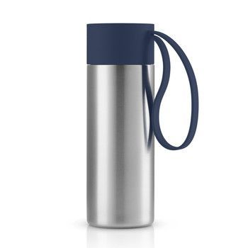 - Eva Solo To Go Cup Thermosflasche - marineblau/edelstahl/1 Trageschlaufe/H 20cm/Ø 6.5cm/0.35 L