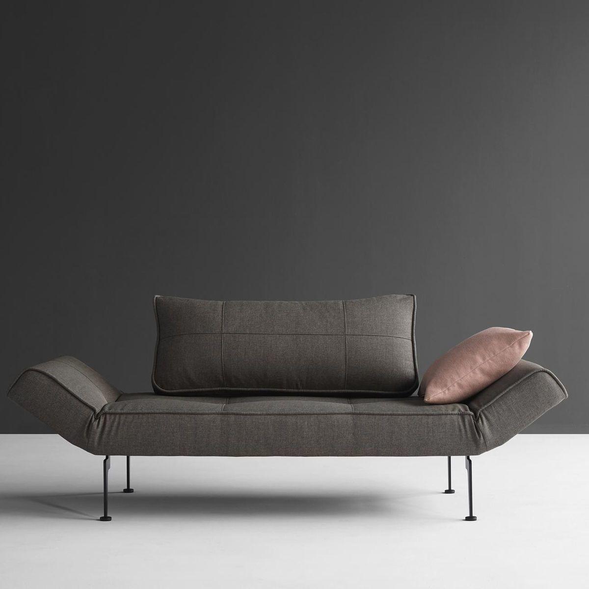 Zeal laser sofa bed innovation sofa beds furniture for Dark grey divan bed