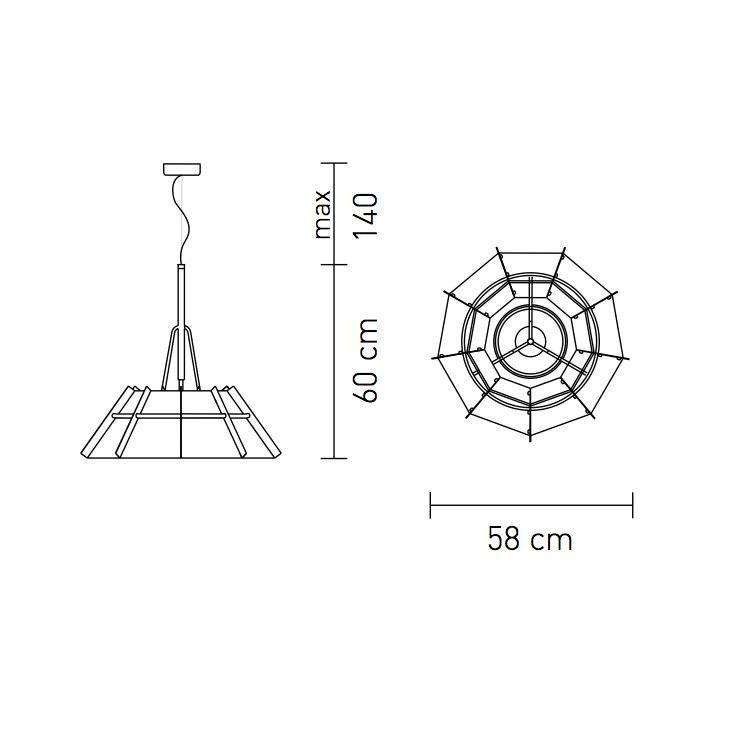 Chapeau Suspension Lamp  Slamp  AmbienteDirect.com