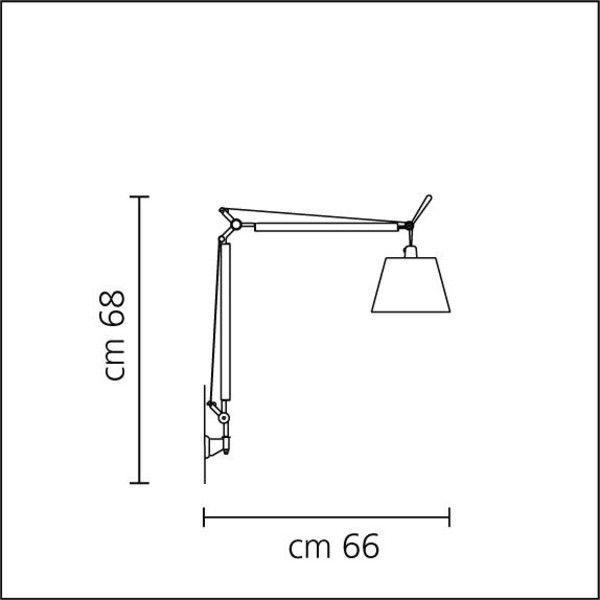 tolomeo pergamena parete wall lamp artemide wall lamps lighting. Black Bedroom Furniture Sets. Home Design Ideas