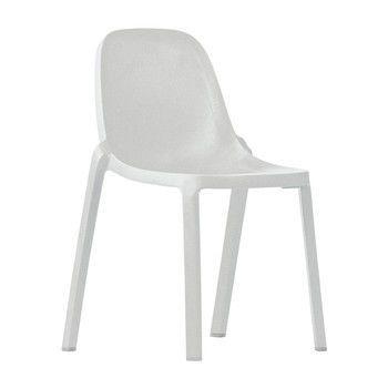 EMECO - Broom Chair Stuhl - weiß/H x B x T: 83 x 48 x 50cm