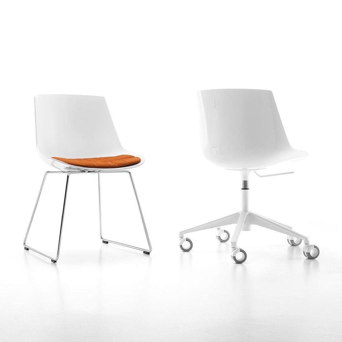 flow chaise bureau pi tement sur roulettes mdf italia jean marie massaud. Black Bedroom Furniture Sets. Home Design Ideas