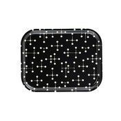 - Classic Tray Dot Pattern Dark Tablett - schwarz/creme/LxBxH 36x28x2cm