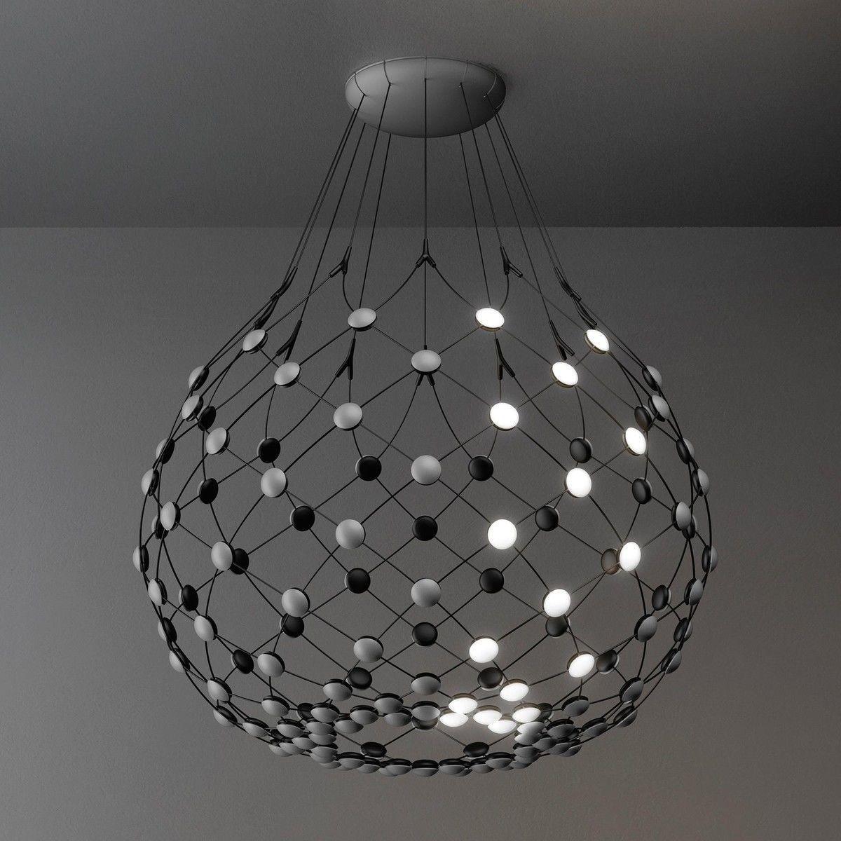 mesh led pendelleuchte luceplan. Black Bedroom Furniture Sets. Home Design Ideas