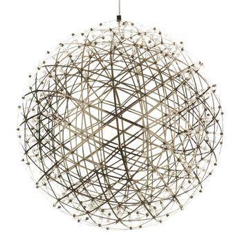 Moooi - Raimond - Suspension - inox/ 492 LEDs/Taille 4/Ø127cm