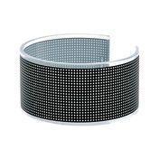 Cini & Nils - Componi 75 anello Ring  - schwarz gitter/Folie/Ø 10,5cm/H: 5,5cm