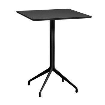 - About a Table AAT15 Stehtisch 80x80cm - schwarz/Tischplatte Linoleum/Kante schwarz/H 105cm