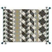 GAN - Kilim Mosaiek Teppich - grau/200x300cm