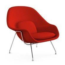 Knoll International - Womb Chair Relax Sessel Gestell chrom