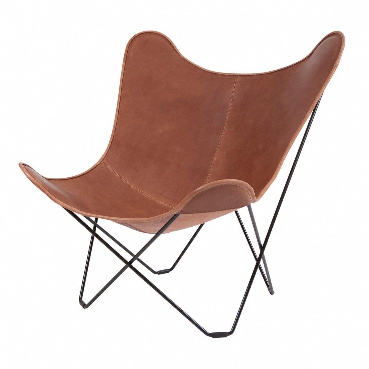 Butterfly chair original - Cuero Pampa Mariposa Butterfly Chair