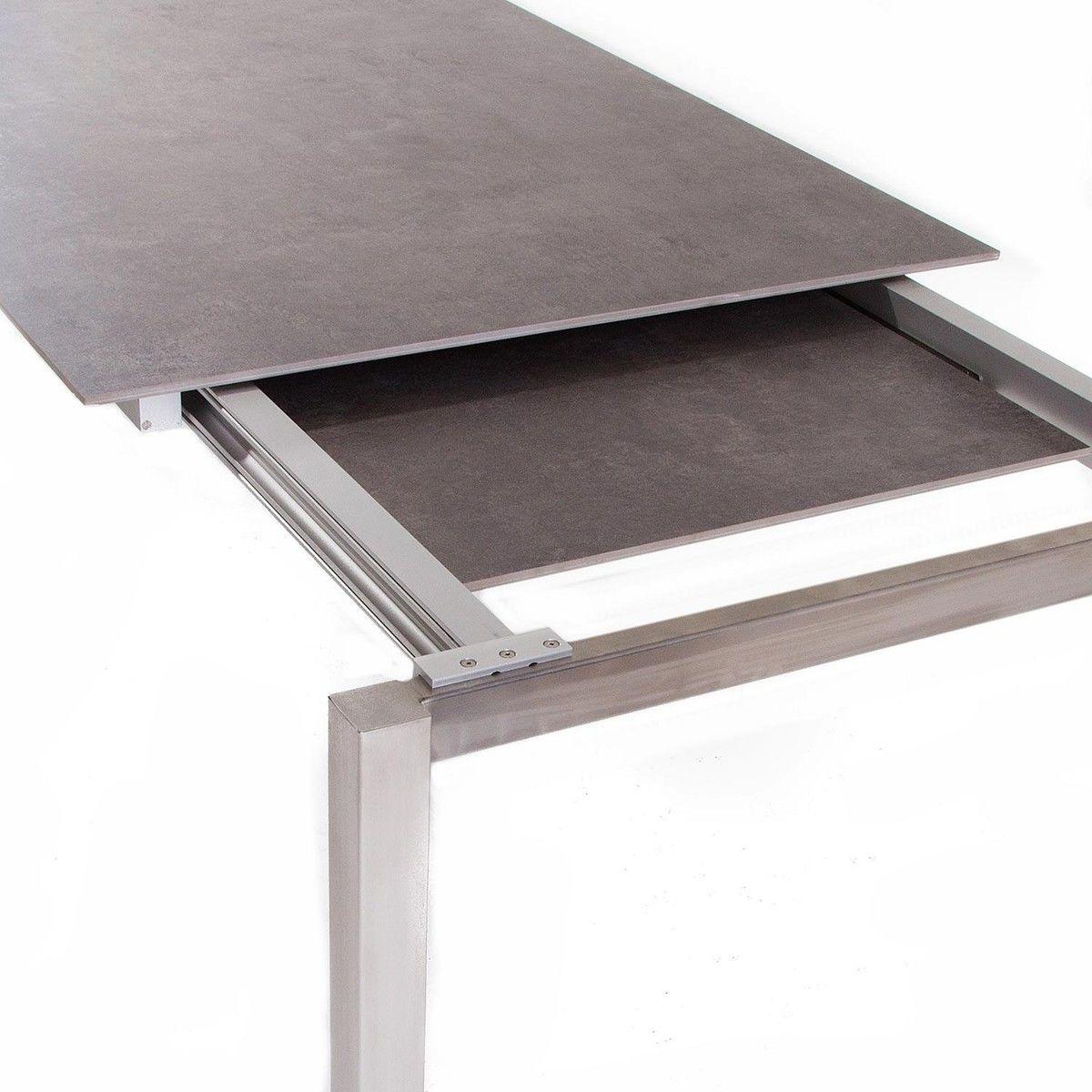 Lux excell table de jardin avec allonges jan kurtz for Table exterieur luxe