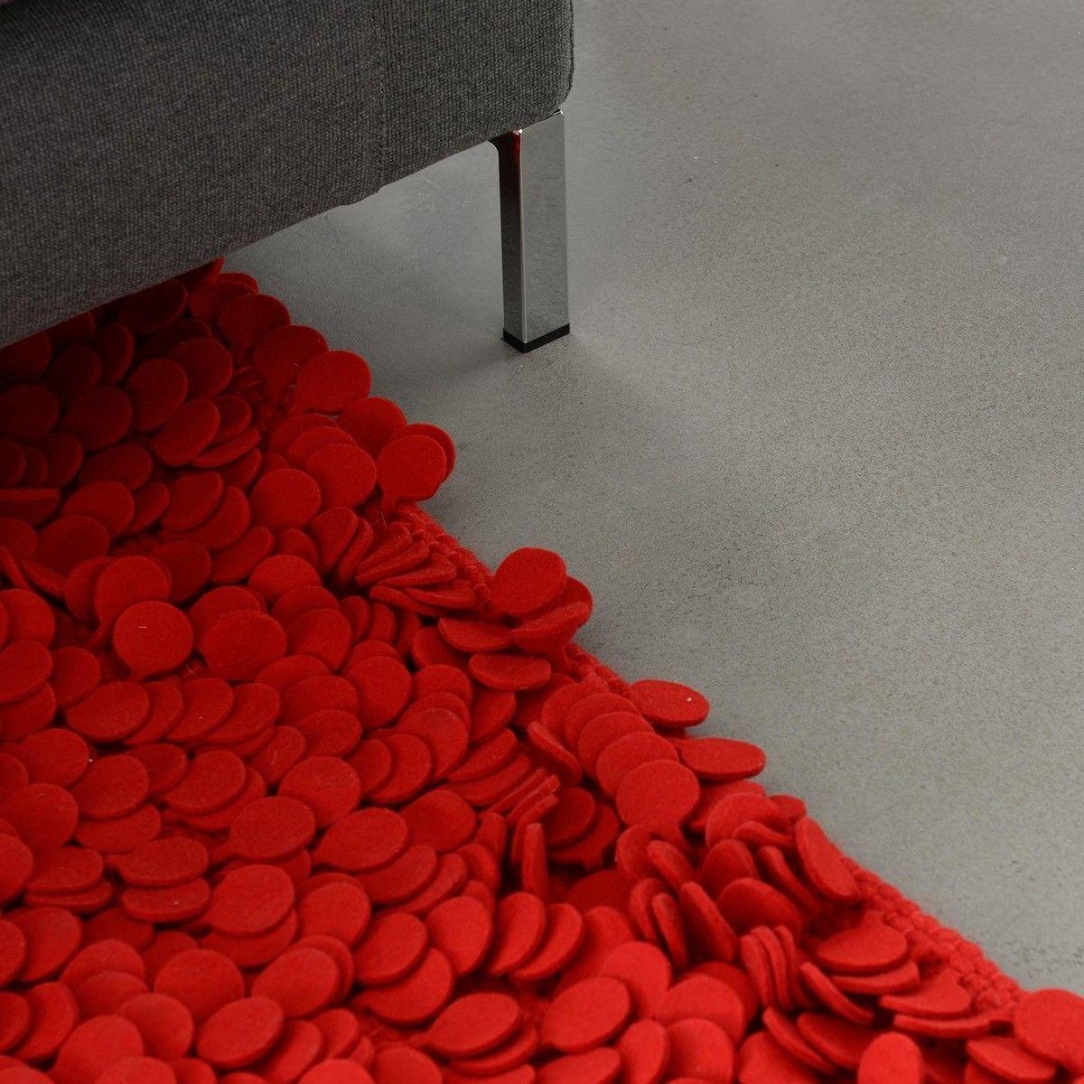 Filzteppich  Nanimarquina Roses Design Woll-Filz Teppich | Nanimarquina ...