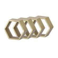 ferm LIVING - Hexagon Serviettenringe 4er Set