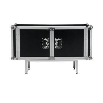 Diesel - Total Flightcase Sideboard - schwarz/matt/2 Türen/inkl. 2 Einlegeböden/120x72x45cm/Aluminium/Mehrschicht-Laminat