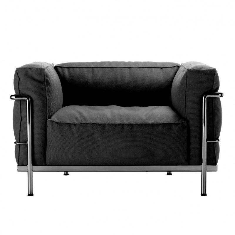 le corbusier lc3 outdoor armchair cassina. Black Bedroom Furniture Sets. Home Design Ideas