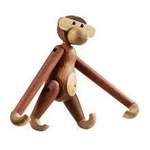 Kay Bojesen Denmark - Kay Bojesen Wooden Figurine Monkey Medium