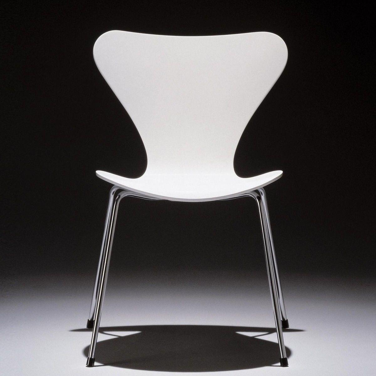 serie 7 stuhl seidenmatt lackiert 46 5cm fritz hansen. Black Bedroom Furniture Sets. Home Design Ideas