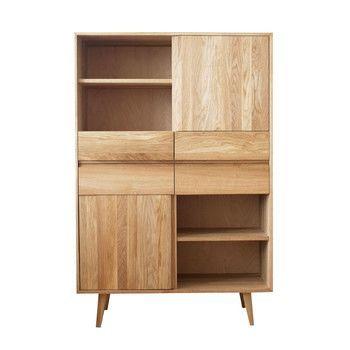 ADWOOD - Costima Officina Schrank - buche/geölt/mit 2 Türen und 4 Schubladen/102x45x153cm