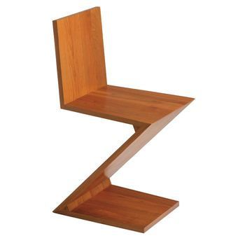 zigzag rietveld chair cassina. Black Bedroom Furniture Sets. Home Design Ideas