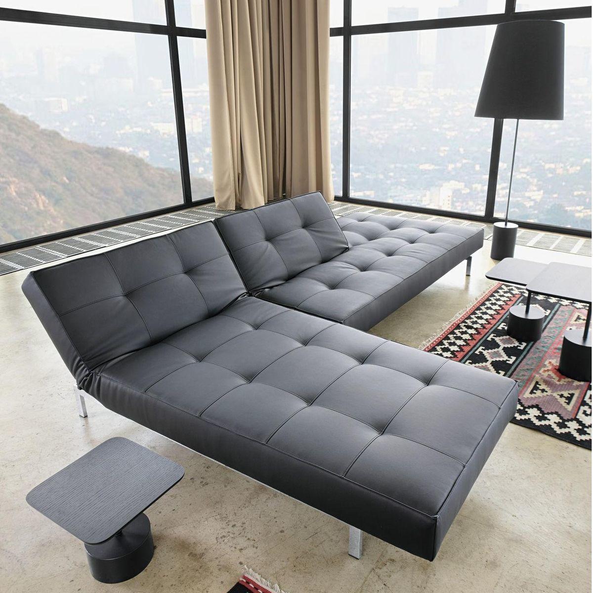 splitback canap lit chrome innovation. Black Bedroom Furniture Sets. Home Design Ideas
