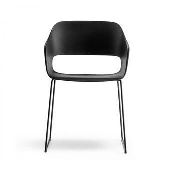 Pedrali - Babila 2745 Armlehnstuhl  - schwarz/Gestell Stahl