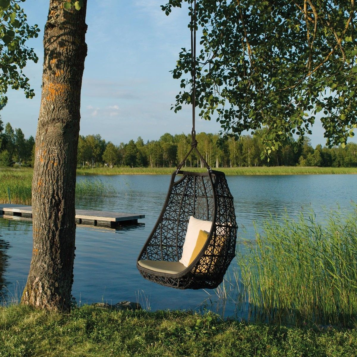 maia egg swing hanging chair kettal. Black Bedroom Furniture Sets. Home Design Ideas