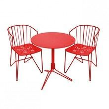 Fermob - Flower Set 2 Gartenstühle + 1 Gartentisch