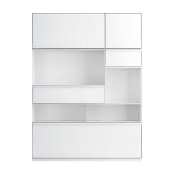 Zanotta - Adhoc Highboard Hochschrank - weiß/9 Fächer/BxH 108x148cm