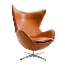 Fritz Hansen - Egg Chair / Das Ei Loungesessel Leder