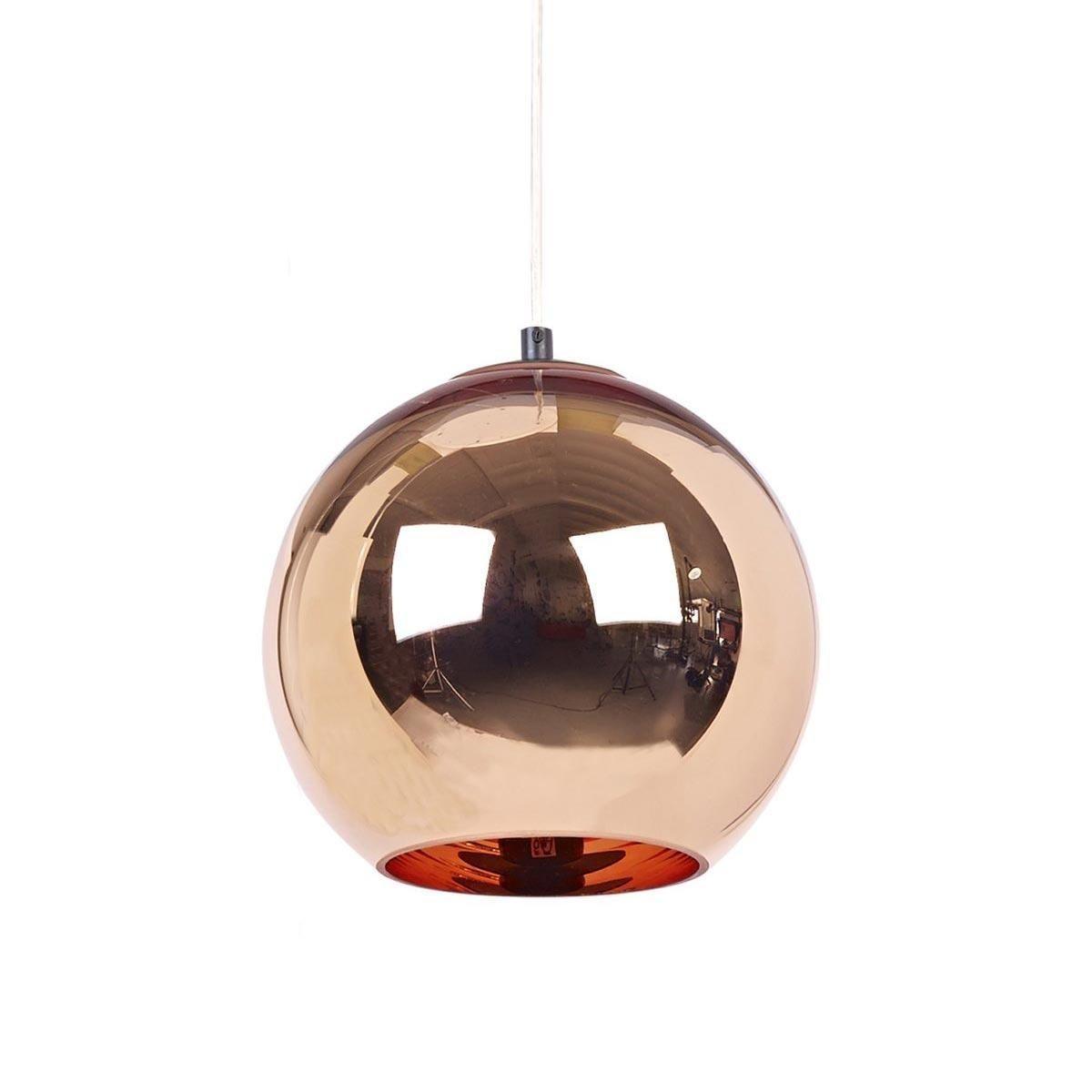 Copper shade suspension lamp tom dixon for Suspension a 3 lampes