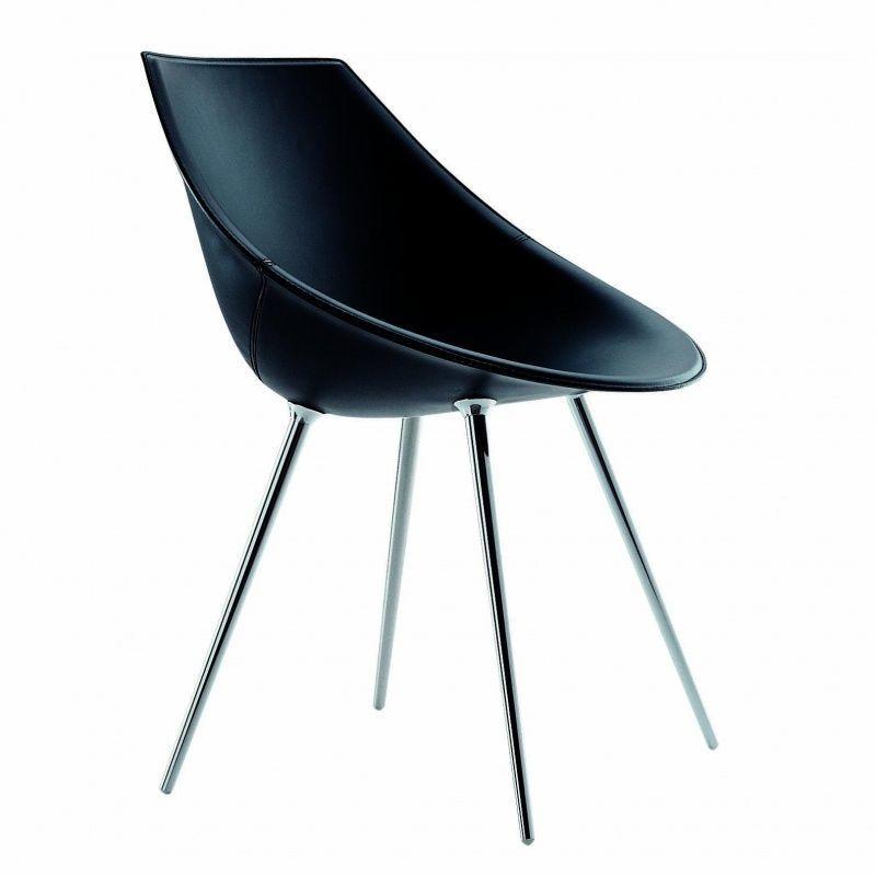lag stuhl mit lederbezug driade lago. Black Bedroom Furniture Sets. Home Design Ideas