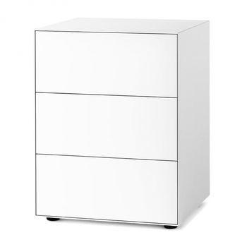 Piure - Nex Pur Box Schubkastenbox 60x77.5x48cm - weiß/MDF matt lackiert/mit Gleitfüße/3 Schubladen