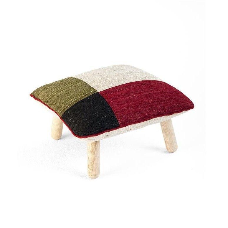 m lange kilim pouf laine nanimarquina poufs meubles d 39 assise mobilier. Black Bedroom Furniture Sets. Home Design Ideas