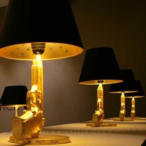 bedside gun lampe poser flos. Black Bedroom Furniture Sets. Home Design Ideas