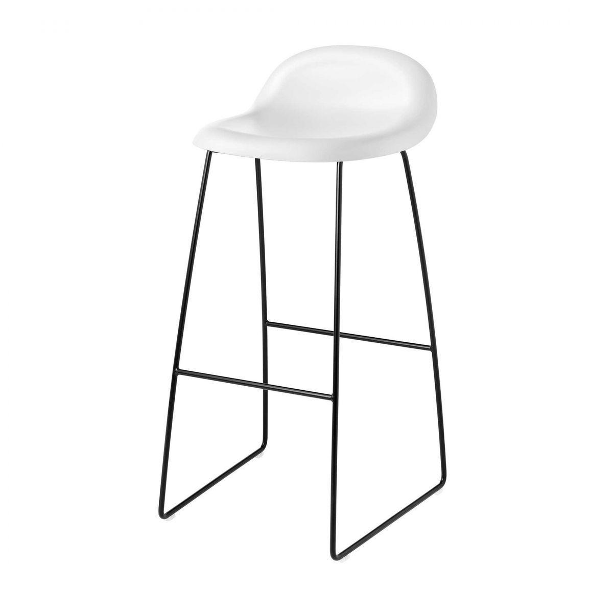 Gubi 3d bar stool kufengestell schwarz gubi black for Barhocker 3d