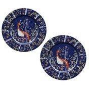 iittala - Taika Untertassen 2 Stück - blau/ornament/Ø 15cm