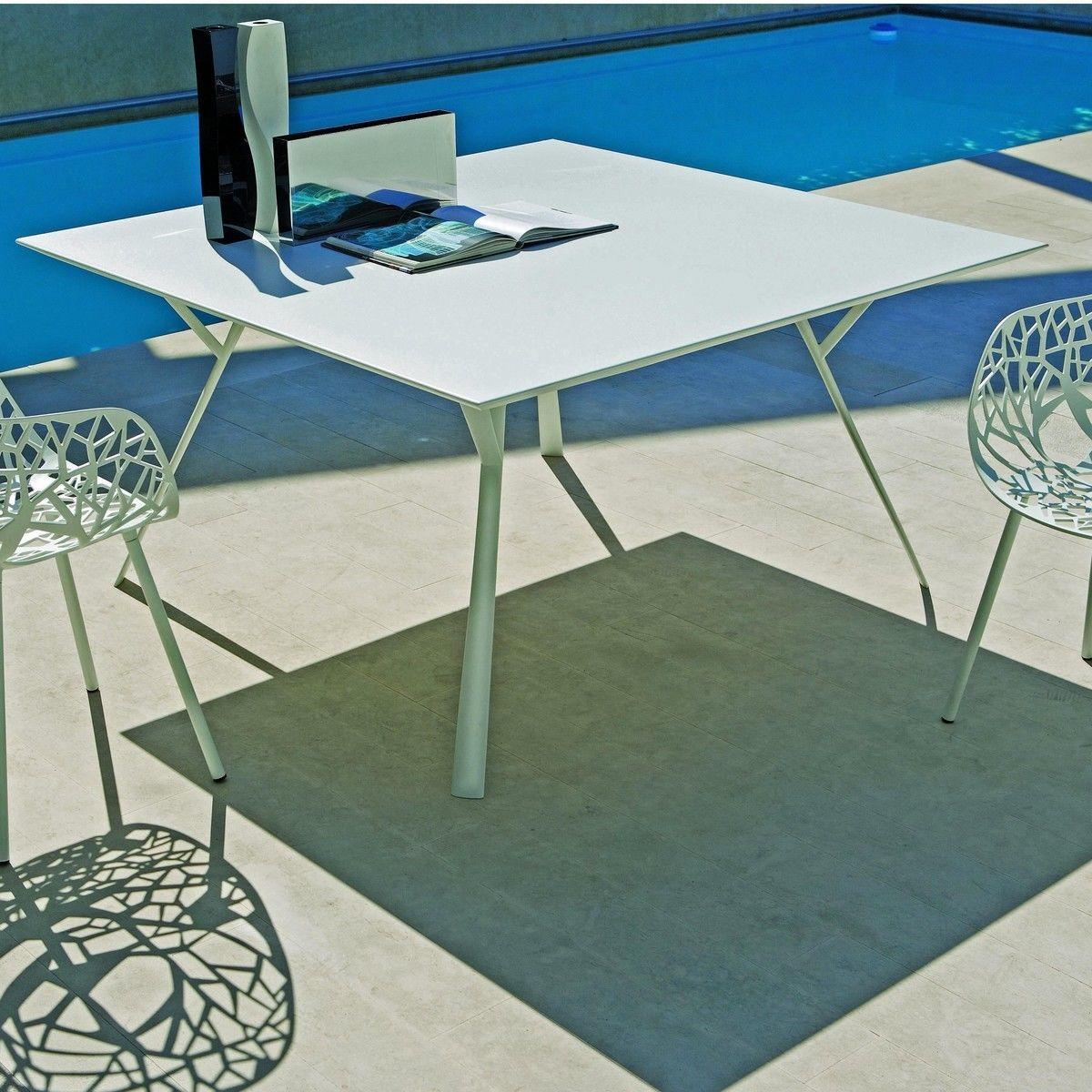 Radice quadra outdoor table weish upl for Table titanium quadra 6