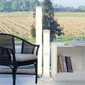 Lumen Center Italia - Také Plus Touch 03 LED Stehleuchte - weiß/chrom/3000K/3300lm/CRI 90/H 132.5cm/Ø 12.5cm