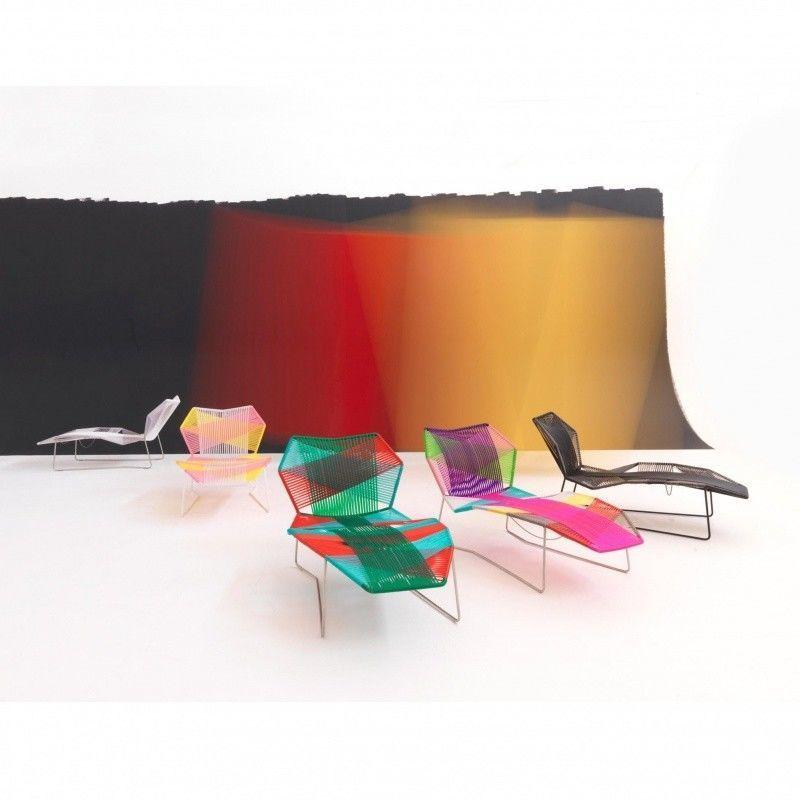 Tropicalia chaise longue moroso pop for Dimension chaise longue