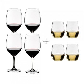 - Vinum Weinglas Geschenk Set 4+4 -
