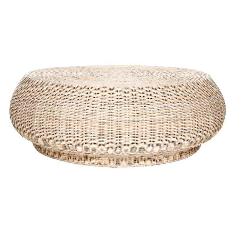 Bolla side table ottoman gervasoni for Beistelltisch rattan