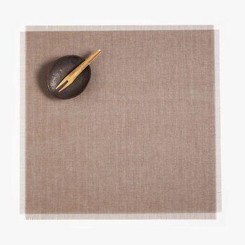 Chilewich - Metallic Fringe Tischset 37x39cm - sand/4 Stück