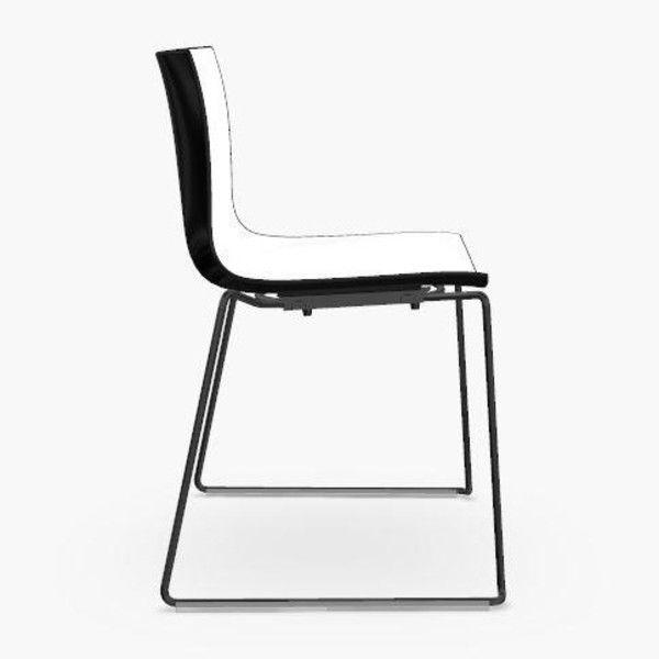 catifa 46 0278 stuhl zweifarbig kufe schwarz arper. Black Bedroom Furniture Sets. Home Design Ideas