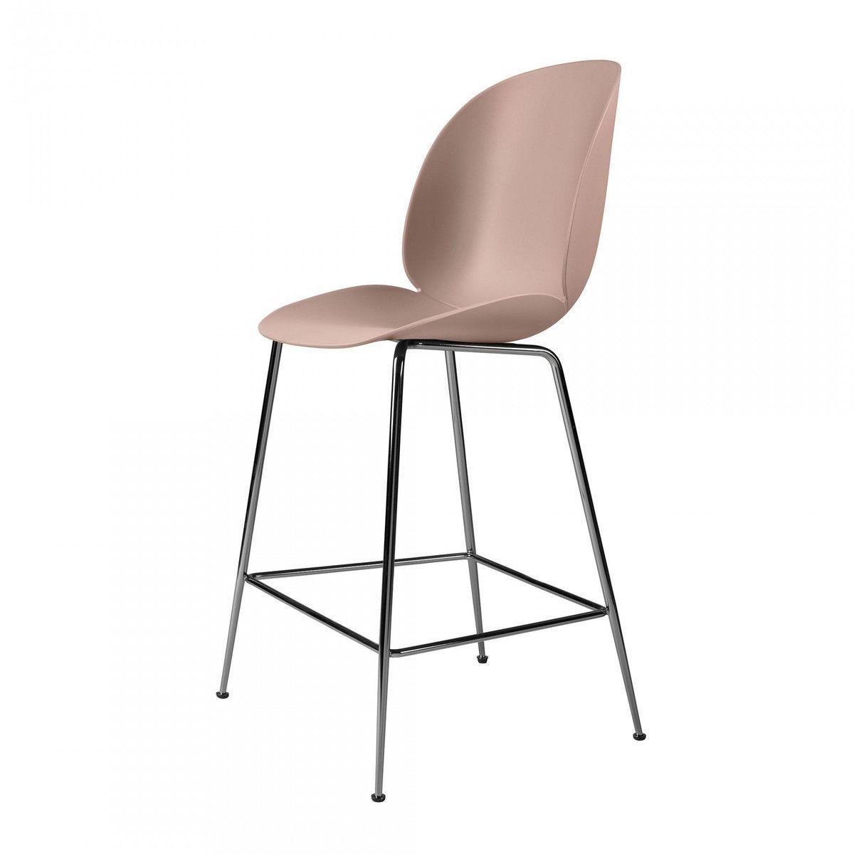 Beetle counter chair barhocker chrom 108cm gubi for Barhocker pink