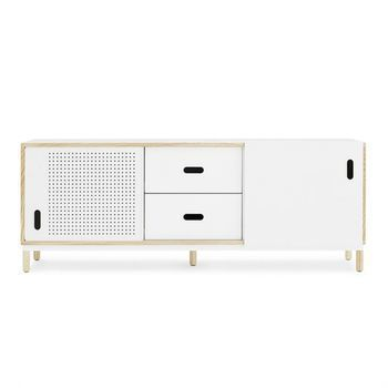 Normann Copenhagen - Kabino Sideboard mit Schubladen - esche/weiß/L x H x T: 161.8 x 61 x 42cm