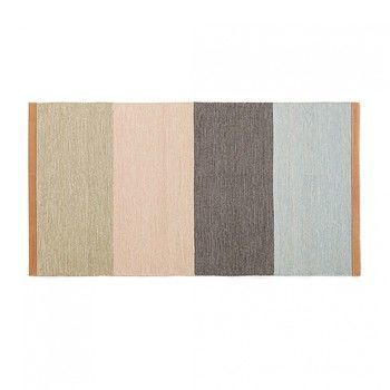 DesignHouseStockholm - Fields Teppich - beige/pink/braun/blau/LxB 70x130cm
