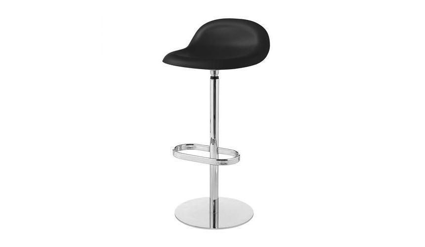 Gubi 3d bar stool barhocker mit drehgestell gubi black for Barhocker 3d
